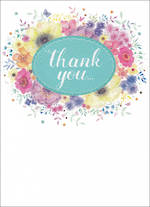 Thank You Card Special Thoughts Floral Frame