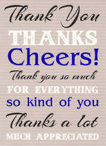 Thank You Card Special Occasions Cheers