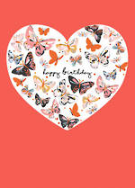 Alma Rose Birthday Butterfly Heart