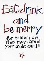 Female Birthday Card: FC2 Eat Drink And Be Merry