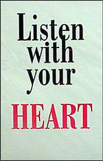 Blank Card Typographic Different Circumstances Listen with Heart