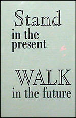 Blank Card Typographic Different Circumstances Stand in Present