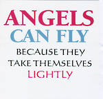Blank Card Typographic Different Circumstances Angels Can Fly