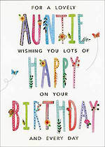 Aunt Birthday Card Paper Gallery Lovely Auntie