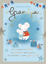 Grandad Birthday Card Mousekins Cute