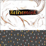 Retirement Card Paper Gallery Square