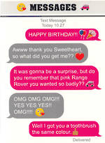 Text Msg Birthday Range Rover