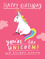 Happy News Small Birthday Unicorn