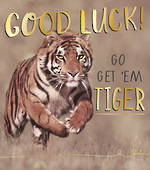 Good Luck Card Funny Works Tiger
