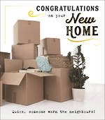 New Home Card Funny Works Congrats