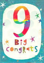Birthday Age Card 9 Boy Young Ones