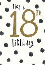Birthday Age Card 18 Female Bijou Dots
