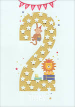 Birthday Age Card 2 Boy Apollo Stars