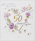 Anniversary Card 50th Gold Amaretto Wedding Anniversary