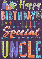 Uncle Birthday Card Bangers & Flash Special Uncle