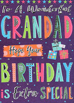 Grandad Birthday Card Bangers & Flash