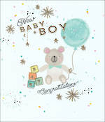 Baby Card Boy Dazzle Balloon