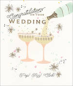 Wedding Card Dazzle Wedding Champagne Glasses
