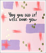 Congratulations Card Hoopla Pastel