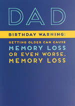 Dad Birthday Card La La Land Memory Loss