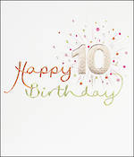 Birthday Age Card 10 Girl Mimosa