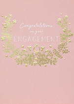 Engagement Card Nolia Foil Wreath