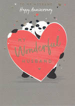 Anniversary Card Husband Nutmeg Pandas