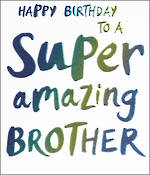 Brother Birthday Card Wow Super Amazing