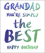 Grandad Birthday Card Wow the Best