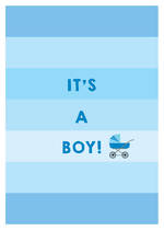 Baby Card Baby Boy Blue Stripes