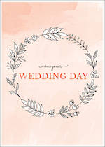 Wedding Card On Your Day Wreath