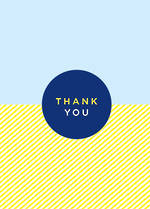 Thank You Card Blue Yellow