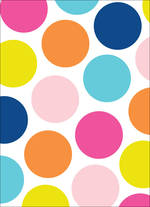 Mini Card Blank Colourful Dots
