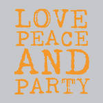 Napkins Paper Products Lunch Love & Party Orange