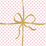 Lunch Napkins Paper Products Cadeaux Deluxe Dot Rose