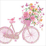 Lunch Napkins Paper Products Pizazz Happy Bike