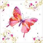 Lunch Napkins Paper Products Pizazz Butterfly