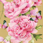 Lunch Napkins Paper Products Peonies & Butterflies