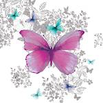 Lunch Napkins Paper Products Butterfly Pattern