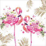 Lunch Napkins Paper Products Floral Flamingos