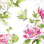 Lunch Napkins Paper Products Summer Rose