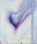 Large Address Book Blue Agate