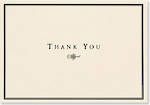 Thank You Note Cards Black & Cream