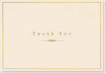 Thank You Note Cards Gold & Cream