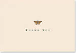 Thank You Note Cards Gold Butterfly