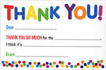 Thank You Notecard Kids Fill-In