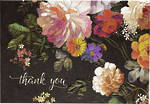Thank You Notecard Midnight Floral
