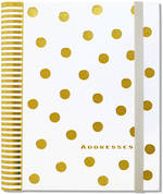 Large Address Book Gold Dots