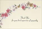 Thank You Notecard Sympathy Floral