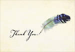 Thank You Notecard Watercolour Quill